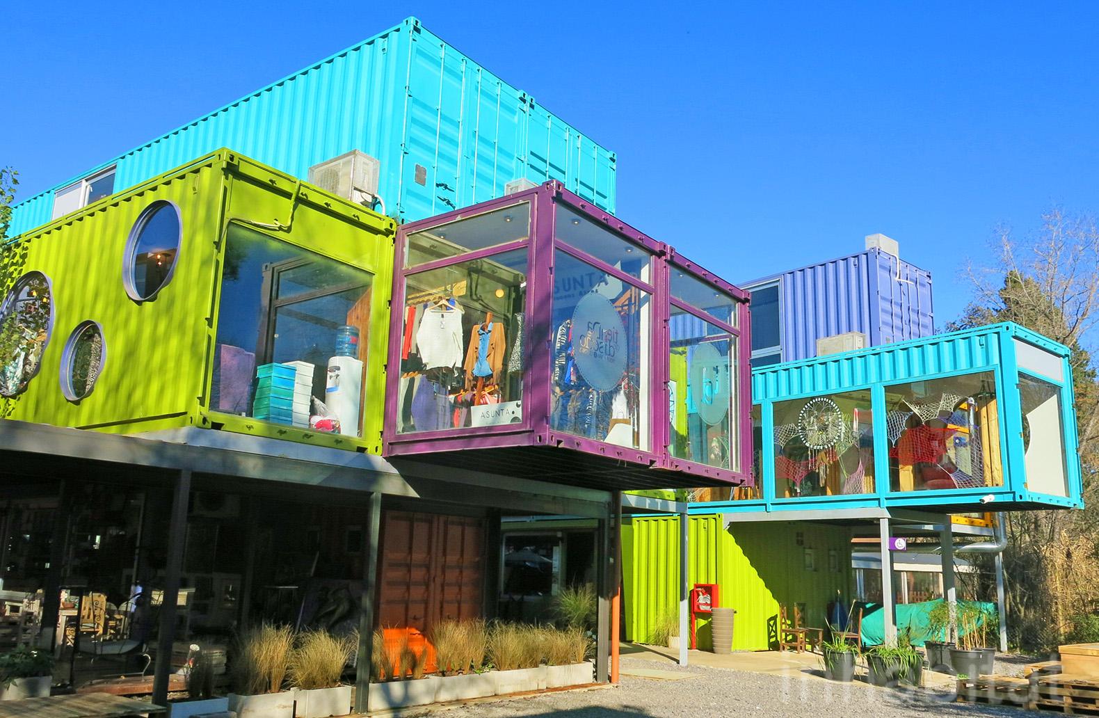 магазин направен от морски контейнер