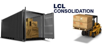 container transportation FCL(full container load) and LCL(less than container load), groupage