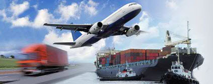 multimodal transport, sea transport, truck transport, air cargo transportation